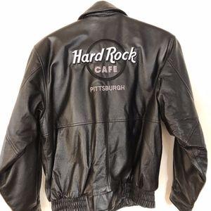 HARD ROCK CAFE leather jacket/lined/black/M?W?